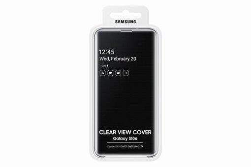 Samsung S10e Siyah Clear View Kılıf. ürün görseli