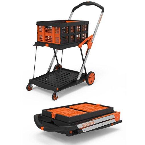 Black+Decker BH204 20/40/50 Kg Profesyonel Katlanabilir Çift Katlı Alışveriş Sepeti / Taşıma Arabası . ürün görseli