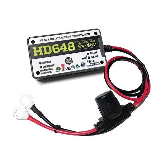 Megapulse HD648 6V/48Volt 2000 Amper Akü Ömrünü Uzatma ve Sülfat/Oksit Çözücü, Önleyici Akü Bakım Cihazı/Desülfatör. ürün görseli