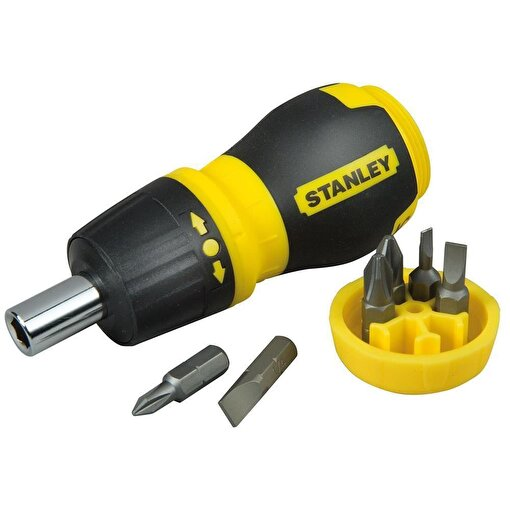 Stanley ST066358 Topaç Tornavida Seti, 6 Parça Cırcırlı, PH1 PH2 PZ1 PZ2 4.5mmdüz 6mmdüz. ürün görseli