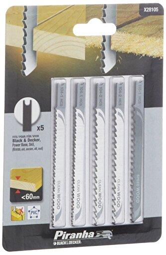 Black&Decker X28105 5 Parça U Tipi Ahşap Dekupaj Bıçak Seti. ürün görseli