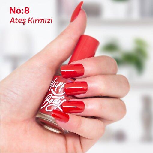 Happy Body Ateş Kırmızı Oje No:8 11 ml. ürün görseli