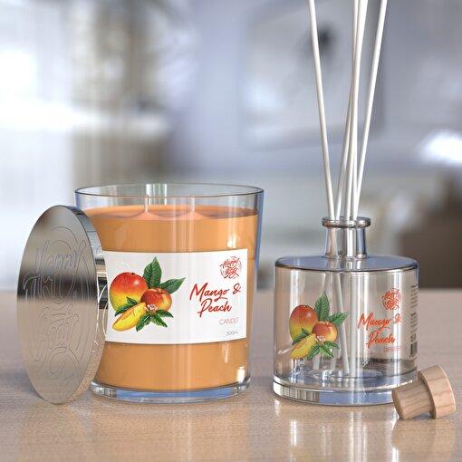 Happy Body Mango ve Şeftali Kokulu Bardak Mum ve Oda Kokusu Seti 300 ml. ürün görseli