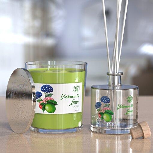 Happy Body Mine Çiçeği ve Misket Limonu Kokulu Mum ve Oda Kokusu Seti 300 ml. ürün görseli