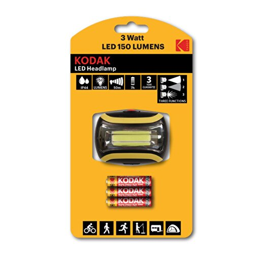 Kodak Headlamp150 LED Kafa Lambası-3 Adet Pil Hediyeli. ürün görseli