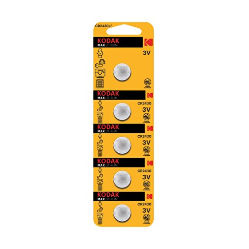 Kodak 5 Adet Ultra Lityum Para Pil-Cr2430. ürün görseli