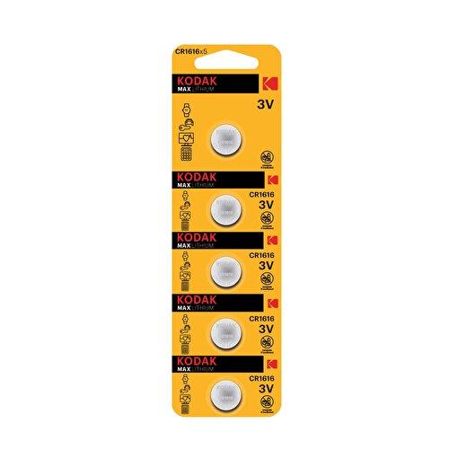 Kodak 5 Adet Ultra Lityum Para Pil-CR1616. ürün görseli