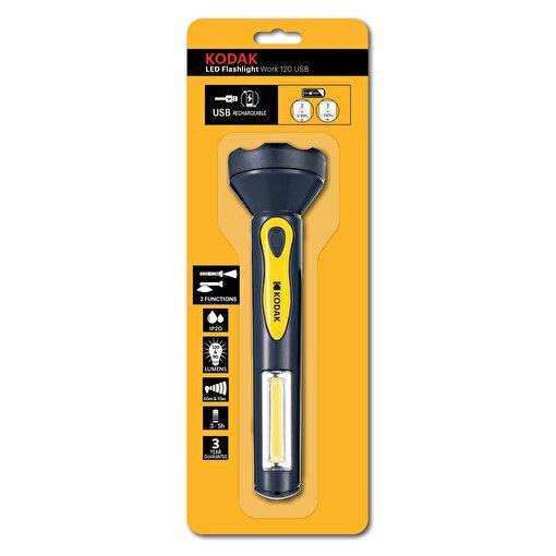 Kodak LED Flashlight Work 120 Tamirci Tipi Şarjlı El Feneri . ürün görseli