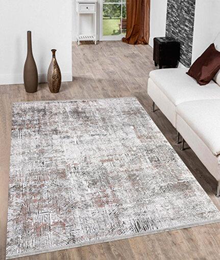 Koza Pera Pudra Akrilik Halı 45688A,80 x 150. ürün görseli