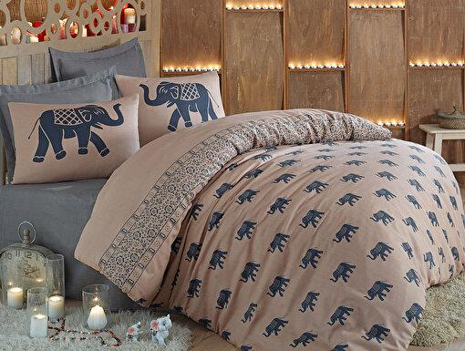 Eponj Home Mature Nevresim Seti Çift Kişilik Fil Mavi. ürün görseli