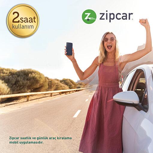 Zipcar Türkiye Uygulamasında Geçerliİki Saatlik KullanımKuponu. ürün görseli