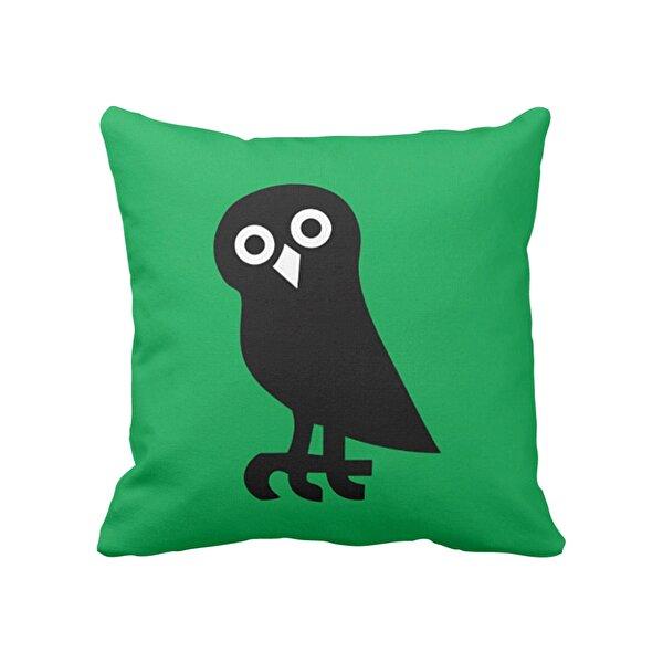 Biggdesign Siyah Baykuş Yastık Kılıfı. ürün görseli