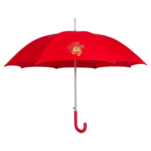 Biggdesign Geyik Desen Kırmızı Şemsiye. ürün görseli