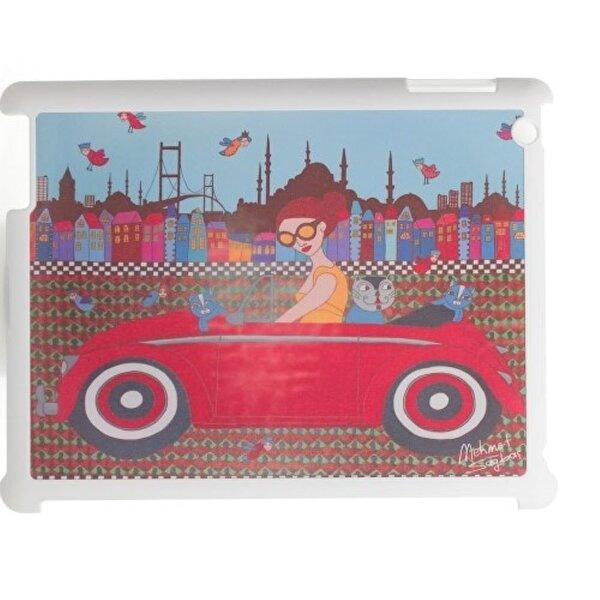 Biggdesign iPad Beyaz Kapak Arabalı Kız. ürün görseli