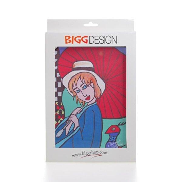 Biggdesign iPad Beyaz Kapak Şemsiyeli Kız. ürün görseli
