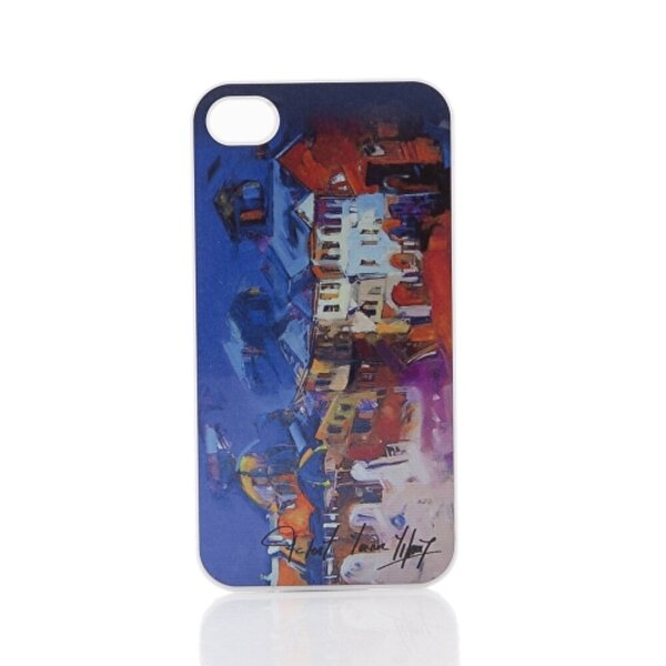 BiggDesign iPhone 5/5S Beyaz Kapak Karanlık Sokak. ürün görseli