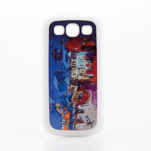 BiggDesign Galaxy S3 Beyaz Kapak Karanlık Sokak. ürün görseli