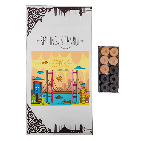 Biggdesign Smiling İstanbul Boğaz Tavla. ürün görseli