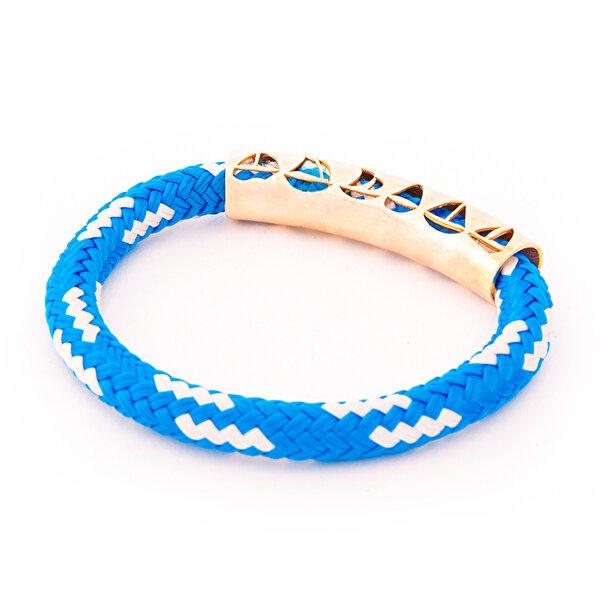 AnemosS Yelken Tasarımlı Mavi Halat Kadın Bileklik. ürün görseli