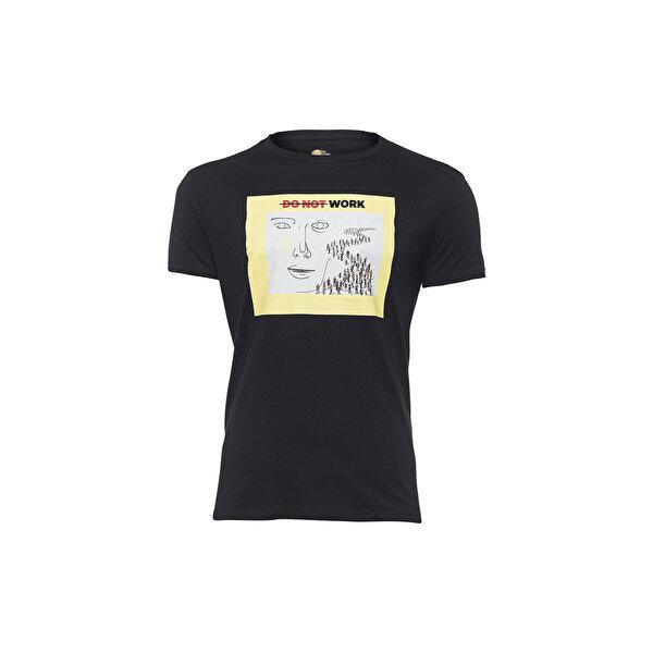 Biggdesign Faces Do not Work Erkek T-Shirt. ürün görseli