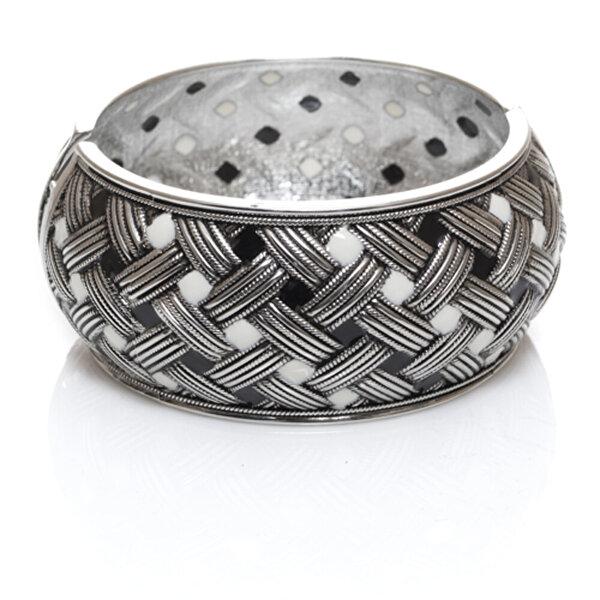 Biggbijoux Hathor Hasır Kelepçe-Gümüş Renkli. ürün görseli