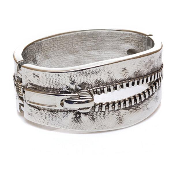 Biggbijoux Hathor Fermuar Kelepçe-Gümüş Renkli. ürün görseli
