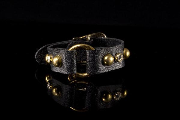 Biggbijoux Hathor Kemerli Deri Bileklik-Siyah Renkli. ürün görseli
