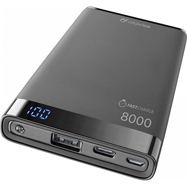 Cellularline Manta Type-C Harici Şarj 8000mA-Siyah. ürün görseli