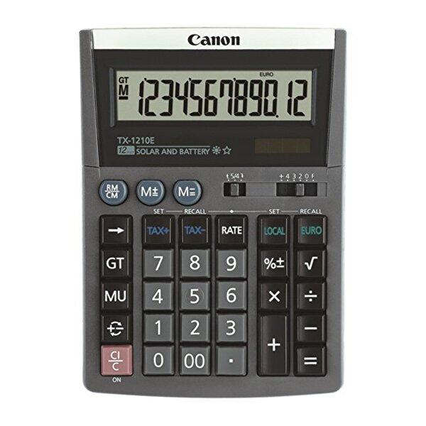 Canon TX-1210 E 12 Hane Masa Üstü Hesap Makinesi . ürün görseli