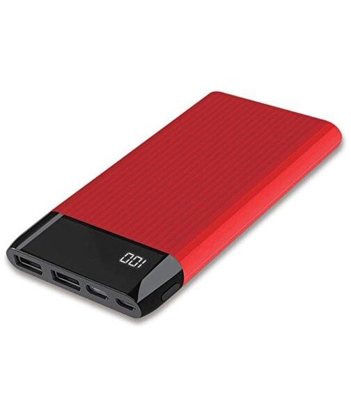Dexim SY15 Led Ekranlı Hızlı 10.000mAh Powerbank-Kırmızı. ürün görseli