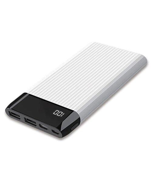 Dexim SY15 Led Ekranlı Hızlı 10.000mAh Powerbank-Beyaz. ürün görseli
