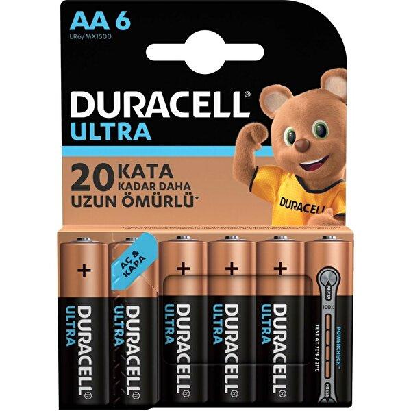 Duracell Ultra Kalem Pil 6'lı AA. ürün görseli
