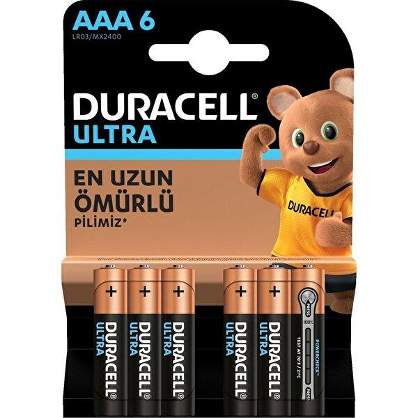 Duracell Ultra İnce Kalem Pil 6'lı AAA. ürün görseli