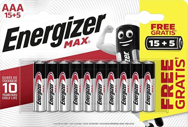 Energizer Max Alkaline AAA 15+5 Pil. ürün görseli