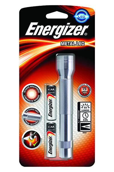 Energizer Metal LED Fener + 2AA Pil. ürün görseli