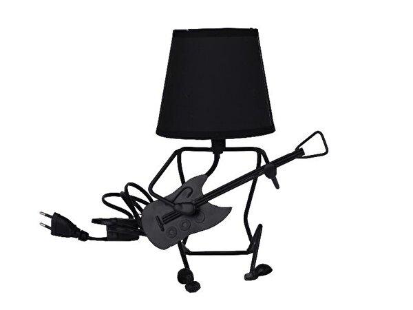 Equinoxe Gitarlı Masa Lambası Siyah. ürün görseli
