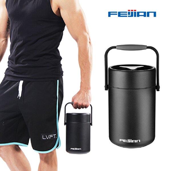 Feijian FF-200-01A 2000 ml Siyah Çelik Termos. ürün görseli