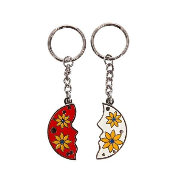 Nektar G08003-1 Çiçekli İkili Anahtarlık Kırmızı Beyaz. ürün görseli