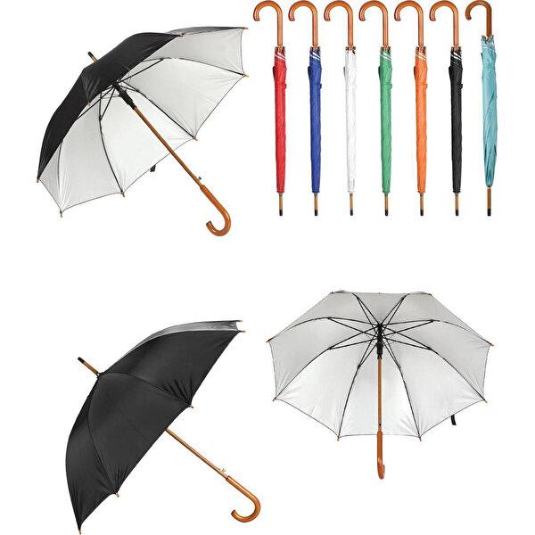 Ahşap Saplı Fiber Glass Kırılmaz Şemsiye. ürün görseli