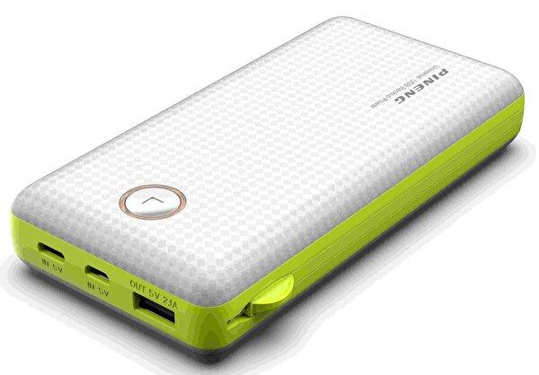 Pineng PN-959 20000mAh Powerbank Beyaz Yeşil. ürün görseli