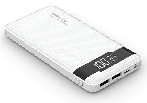 Pineng PN-961 10000mAh Powerbank Beyaz. ürün görseli