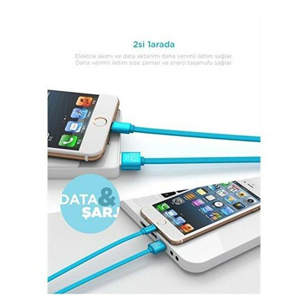 Pineng PN-302 iPhone Lightning Kırmızı Kablo. ürün görseli