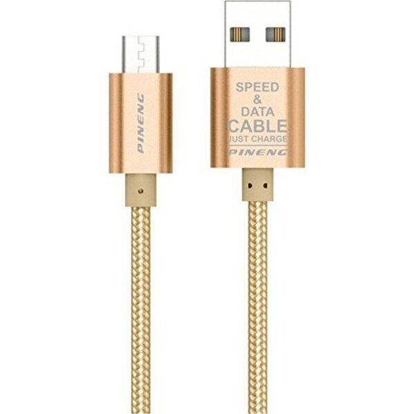 Pineng PN-306 Micro USB 1 Metre Örgülü Altın Kablo. ürün görseli