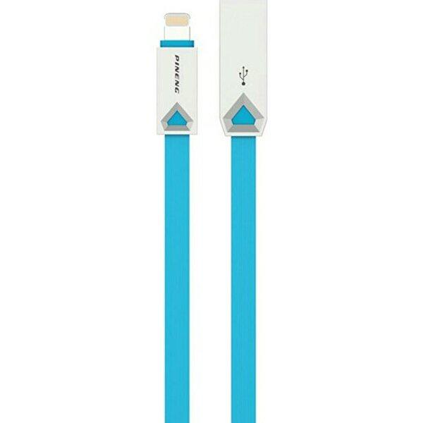 Pineng PN-308 Yüksek Hızlı Lightning 1 M Data Şarj Kablo Mavi. ürün görseli