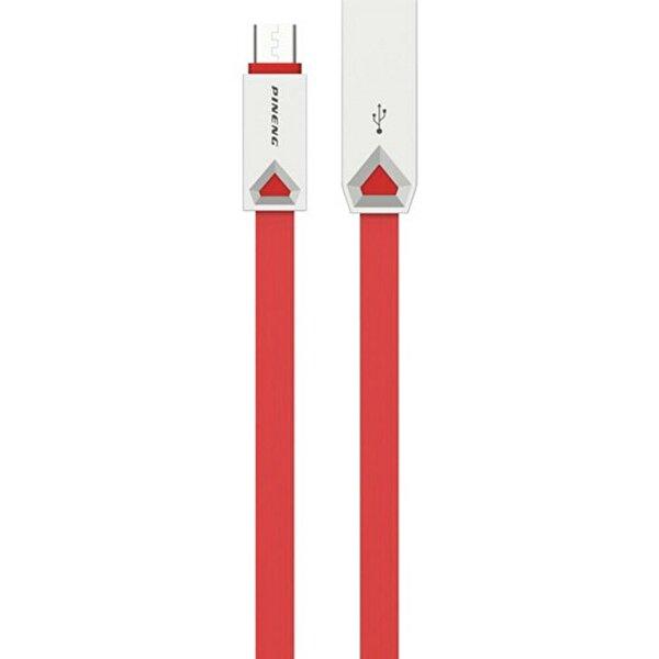 Pineng PN-309 Yüksek Hızlı Micro USB 1 M Data Şarj Kablo Kırmızı. ürün görseli