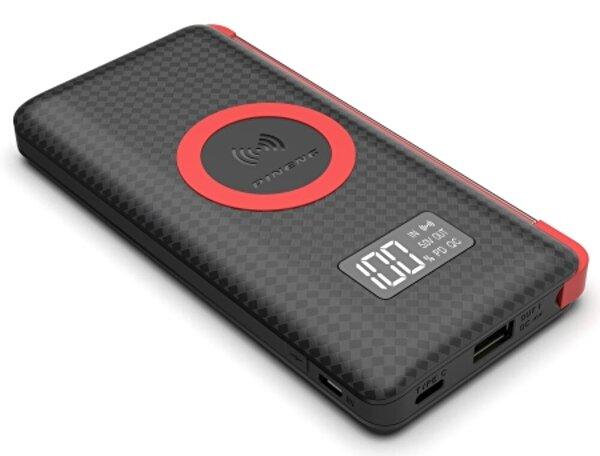 Pineng PN-888 10000 mAh Wireless PD 3.0 Yüksek Hızlı Dijital LED Göstergeli Powerbank - Siyah. ürün görseli